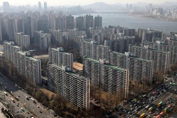 서울 송파구 잠실주공 5단지 전경.© News1