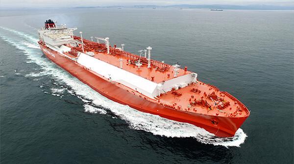 현대중공업이 건조한 LNG 운반선
